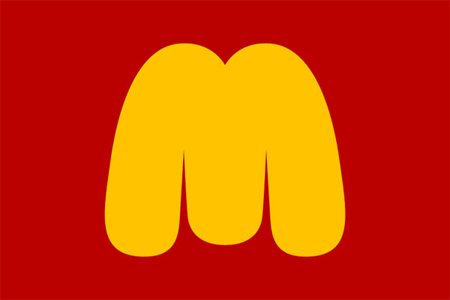 Satirical logos by Maentis