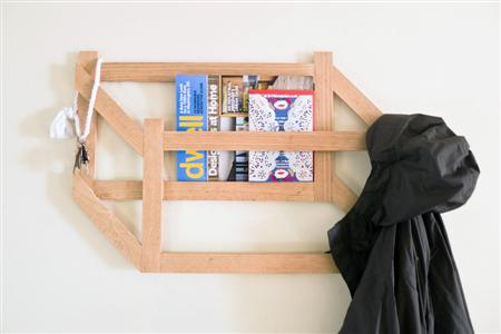 DIY 3D trompe l'oeil coat rack