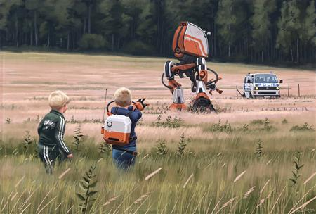 Futuristic art by Simon Stalenhag