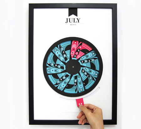 Pop-up, pull-out calendars made from paper