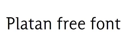 platan-free-font