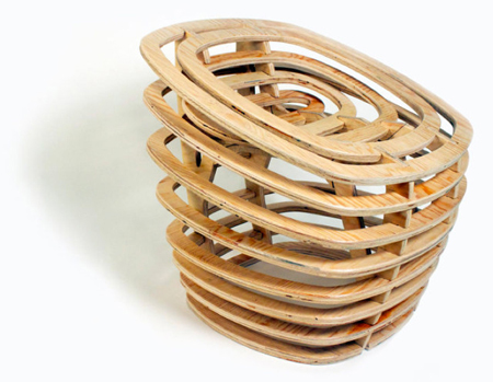 Segmented wooden chair
