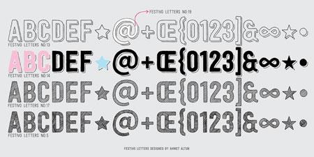 festivo letters