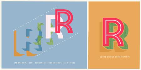 Core Circus layered font