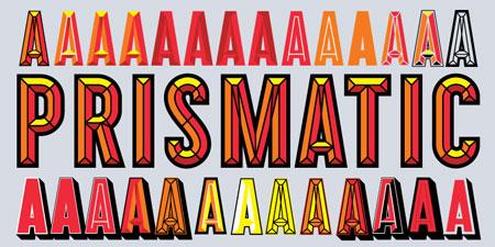 prismatic font