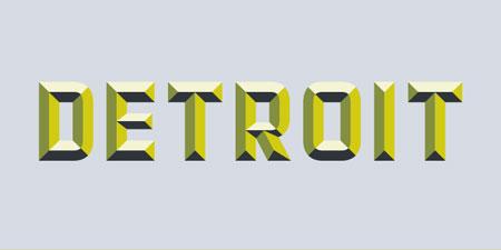 detroit layered font