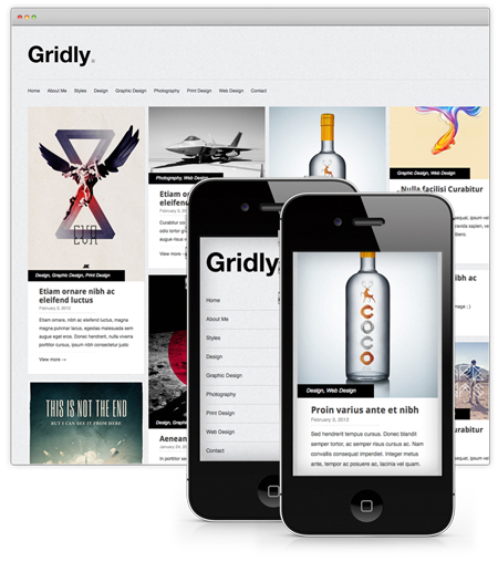 gridly wordpress portfolio theme