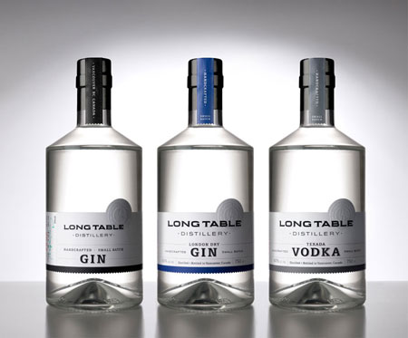 Long Table distillery packaging
