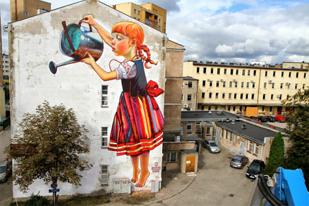Street art: The legend of giants