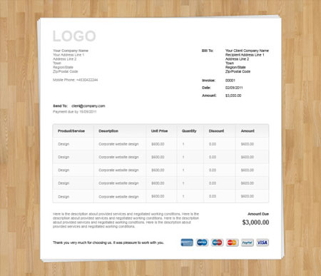wood-invoice