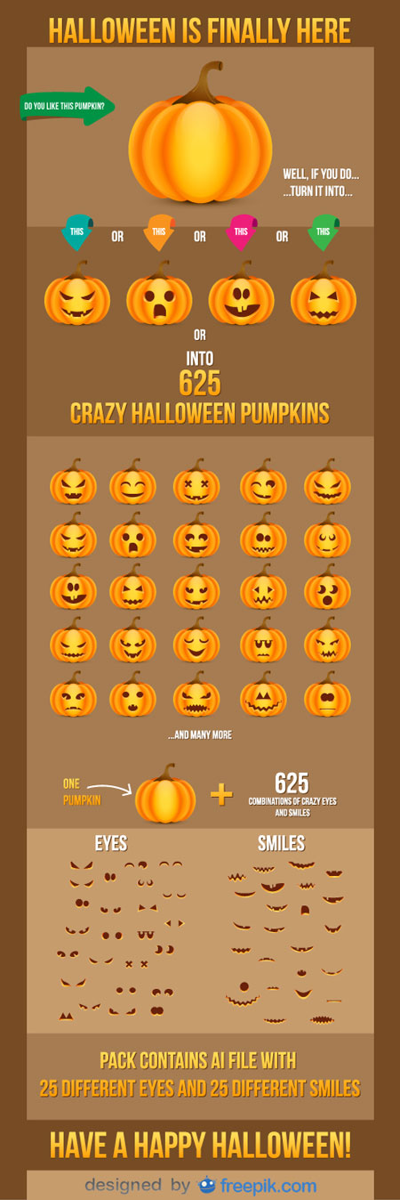 Freeby: Halloween vector pack