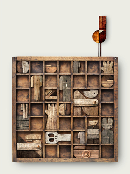 Wooden Illustrations Art + Graphics