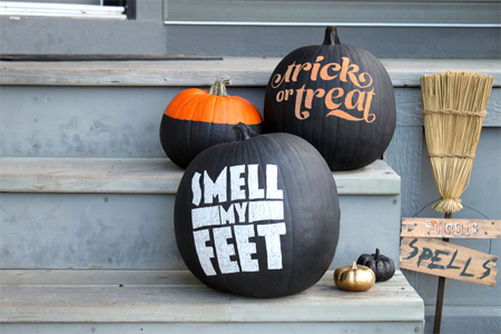 DIY typographic pumpkins