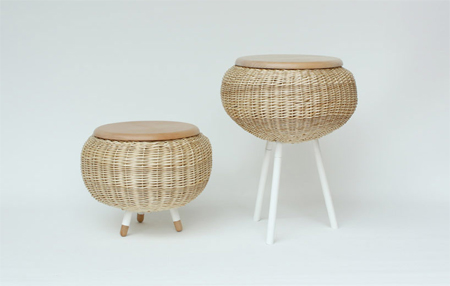 Weaved furniture by Micomoler