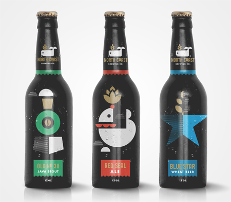 Lovely labels for Northcoast Brewery