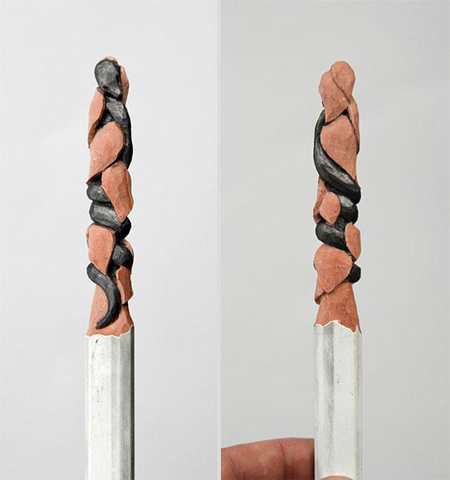 Amazingly intricate pencil tip sculptures