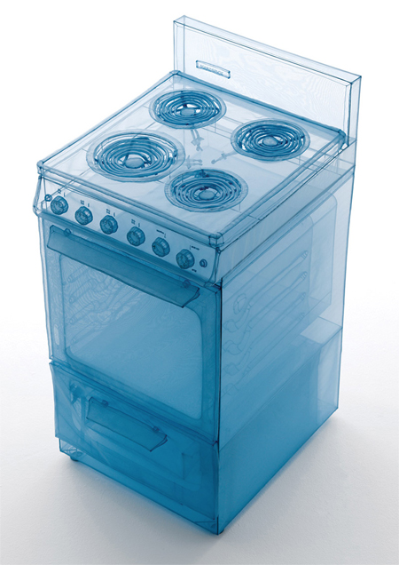 Appliances sculpted out of polyester