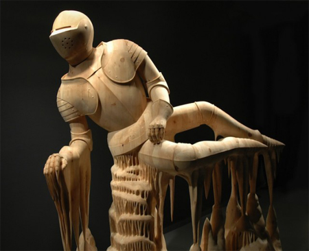 Wood Sculptures of Surreal Figures