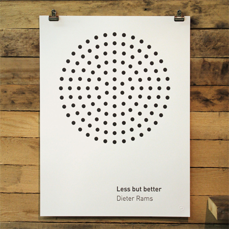 Poster by Dieter Rams: less but better