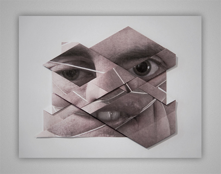 Geometric facial landscapes by Aldo Tolino