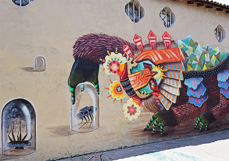 The mythical beasts of painter and street artist Curiot