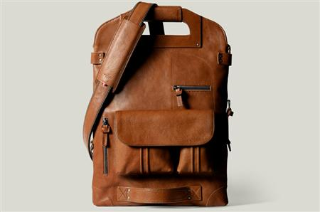 Hard Graft's modular 2unfold tanned leather laptop and tablet bag