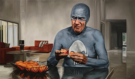 The life of a superhero oil paintings