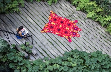 Huichol rug by Elissa Medina