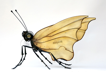 Insect sculptures by Edouard Martinet