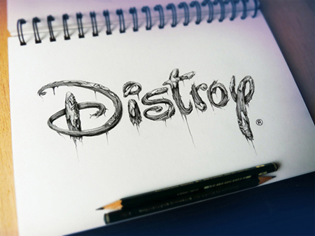 Distroy sketches by Pez
