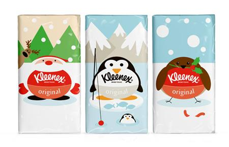 Kleenex seasonal packaging