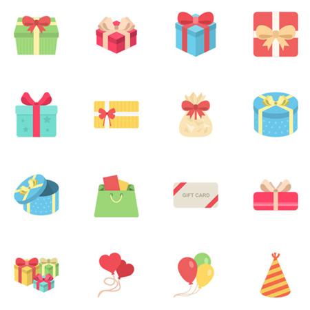 Gift-icon-set