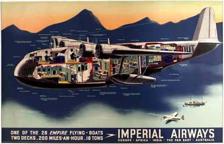 Vintage British aviation posters