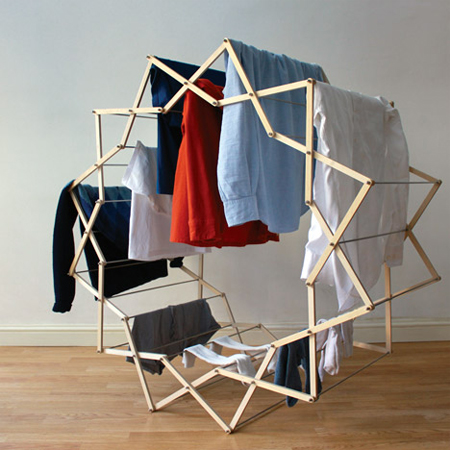 Star-shaped clothes horse