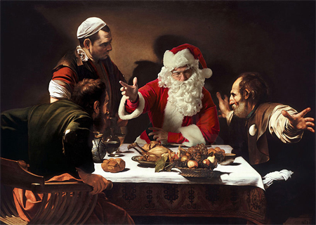 Santa Claus in classic masterpieces