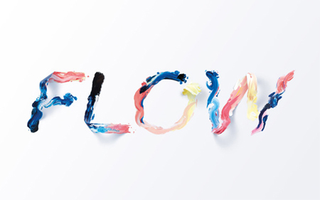 Flow typographic Illustration