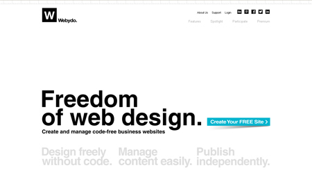 Webydo is the professional choice by web designers for website creation