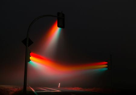 Misty traffic lights in Germany by Lucas Zimmermann