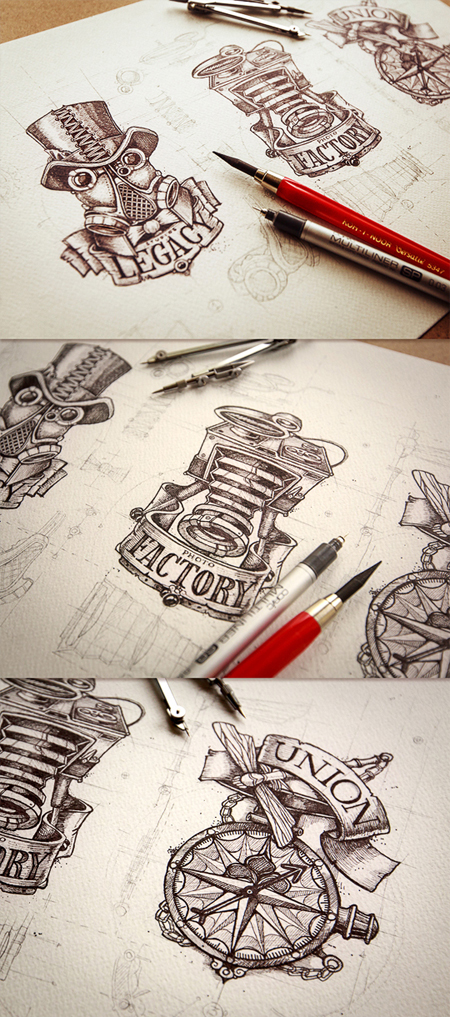 Awesome logo design sketches