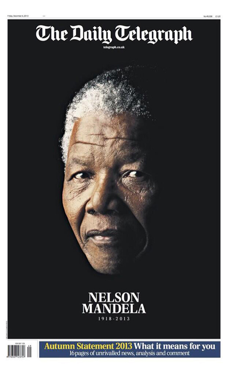 Front pages pay tribute to Nelson Mandela