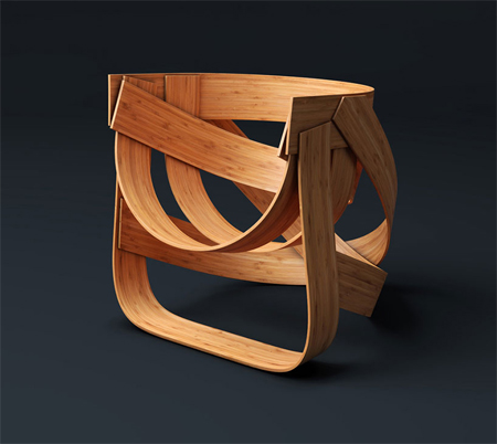 Sustainably woven bamboo chair