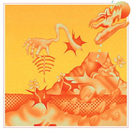 Psychedelic album artwork from designer Robert Beatty