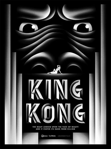 80th anniversary poster for King Kong