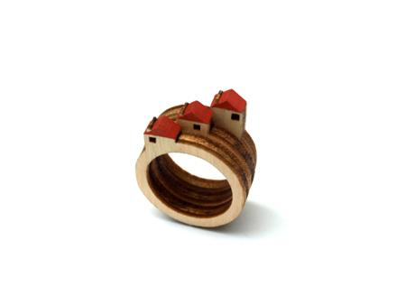 Birch rings: tiny landscapes on your finger
