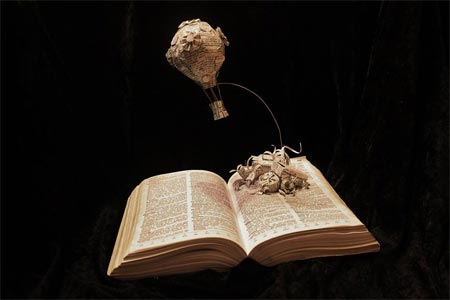 Stories leap from the page in paper sculptures
