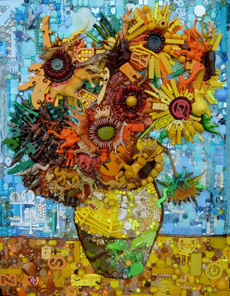 Spectacular recycled art by Jane Perkins