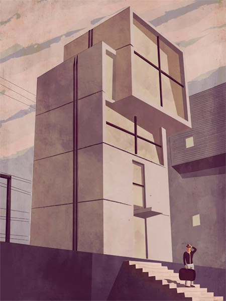 Architectural illustrations by Giordano Poloni