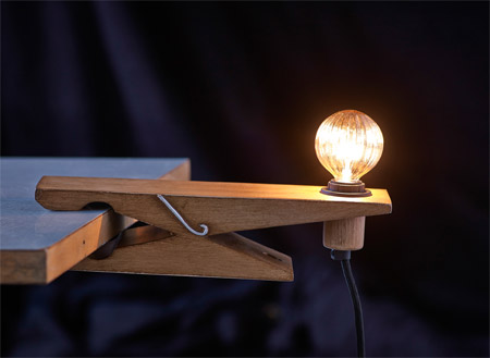 The clamp lamp will follow you everywhere