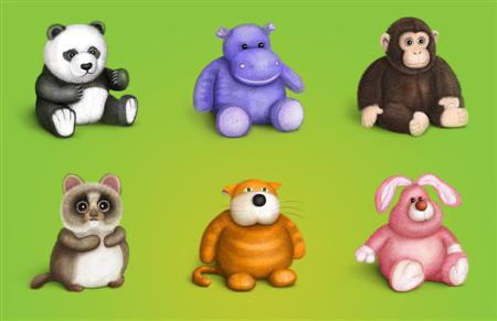 Plush_Icons_Set_by_Cuberto_ru