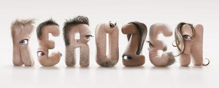 Slighty disgusting letters with human characteristics